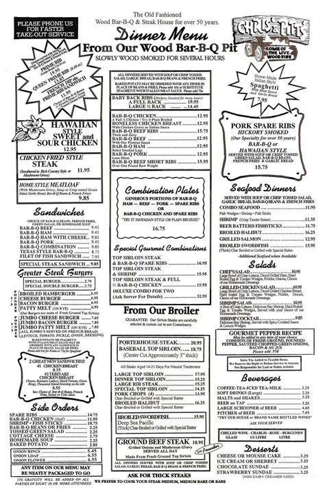 chris pitts bbq restaurants dinner menu bbq