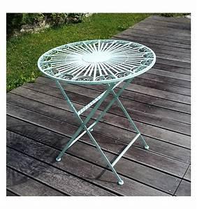 Table De Jardin Fer Forgé : salon de jardin en fer forg chaise et table ~ Louise-bijoux.com Idées de Décoration
