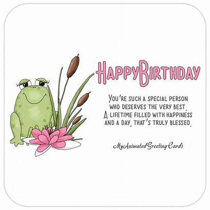 Birthday Happy Animated Cards Special Person Wishes