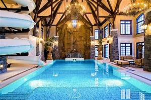 Amazing 3 Story Indoor Swimming Pool With Water Slide