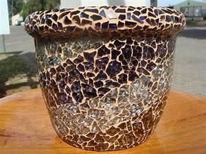 Gem, Glass, Mosaic, Mosaic, Flower, Pots