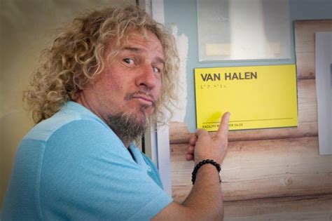 Halen News Desk 2011 by Caption This Photo Sammy In Front Of Halen Room