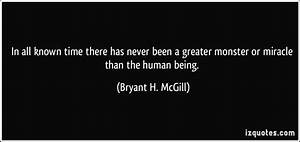 In all known ti... Monster Human Quotes
