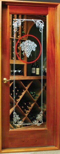 glass etching   wine cellar door wine room door