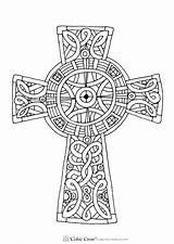 Coloring Cross Celtic Popular sketch template
