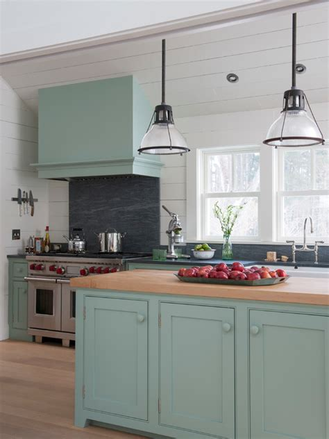 blue country kitchens blue green kitchen cabinets interiors by color 1724