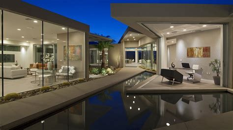 Behind The Gates  Modern Contemporary Desert House Palm