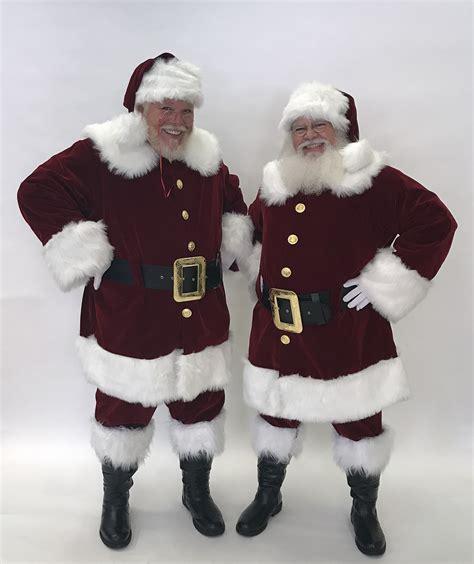 Planetsanta Classic Velvet Santa Suit with brass colored ...