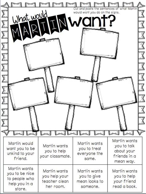 martin luther king activities for third grade the big