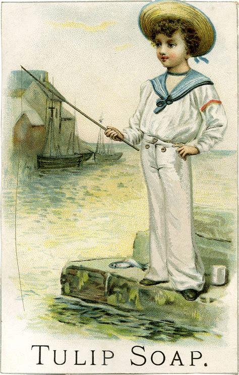 vintage sailor boy picture darling  graphics fairy