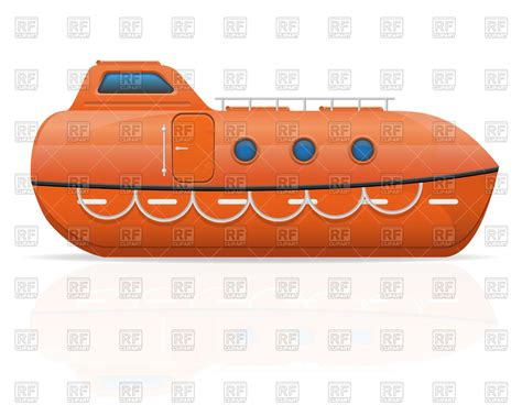 Cartoon Lifeboats by Nautical Lifeboat Royalty Free Vector Clip Art Image
