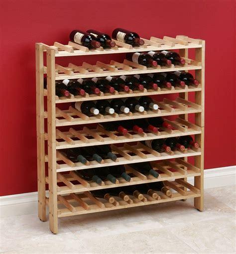amazoncom seville classics  bottle birchwood wine rack