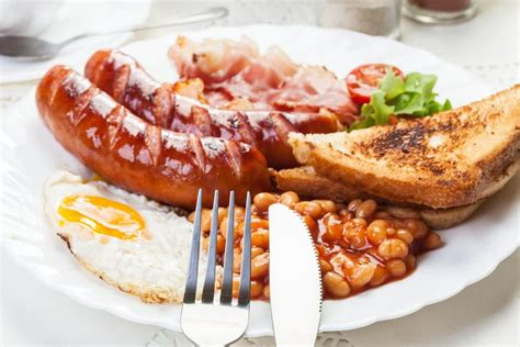 breakfast english fried fryer air egg sausage ultimate bacon beans recipes baked toast bread recipethis recipe brunch food accommodation welcome