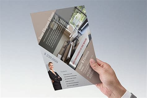 elegant home real estate pocket folder flyer template