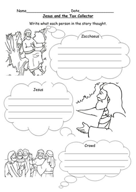 jesus  zacchaeus worksheet  le teaching