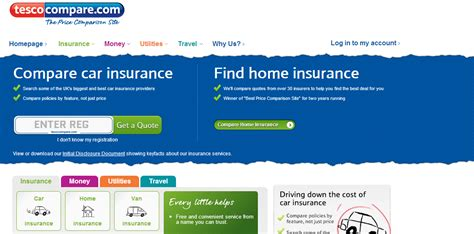 Tesco Bank Compare Prices Of Insurance Loan Mortgages