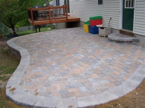 patio on sloping yard