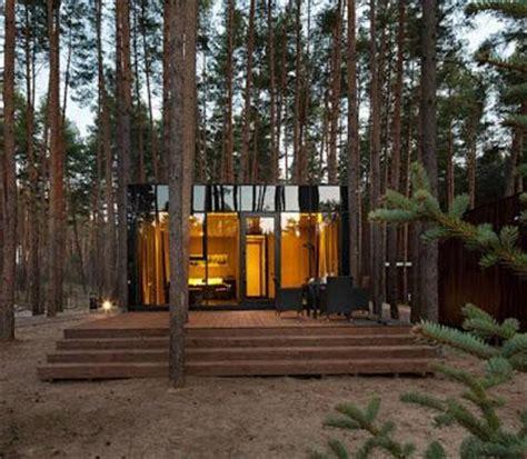 casas minimas  modernas en el bosque paperblog