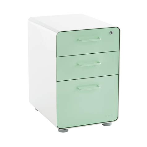 poppin file cabinet review poppin mint 3 drawer locking stow filing cabinet the
