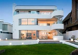 Luxury Modern Concrete Home Plans With White Exterior ...