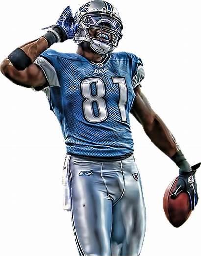 Football American Transparent Nfl Johnson Calvin Lions