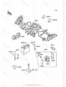 Kawasaki Motorcycle 2002 Oem Parts Diagram For Chassis Electrical Equipment