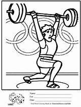 Coloring Pages Weight Lifting Weights Olympic Activities Printable Olympics Crossfit Loss Healthy Habits Template Heart Sketch Children Crafts Kid Sports sketch template