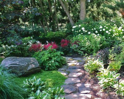 shade gardens  floering vine ideas shade garden