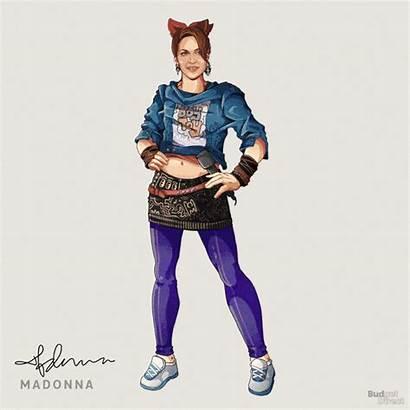 Madonna Outfits Iconic Mercury Freddie Pop Behance