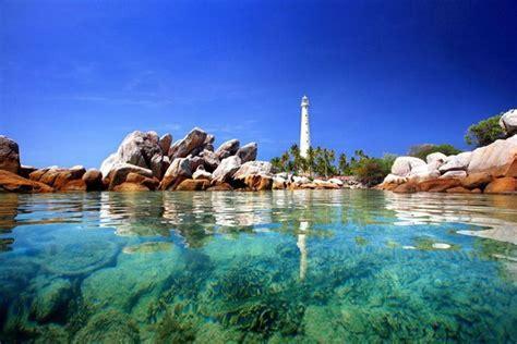 visiting lengkuas island  bangka belitung