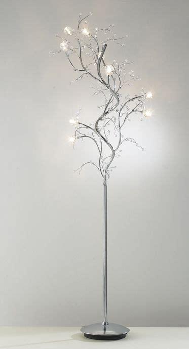 modern tree floor lamp  chrome  crystal decoration