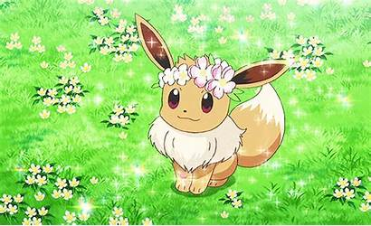 Eevee Anime Pokemon Crown Flower Serena Wearing