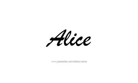 alice  tattoo designs