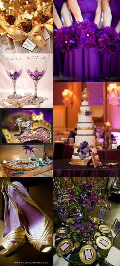 Purple Gold, Mardi Gras And Themed Weddings On Pinterest