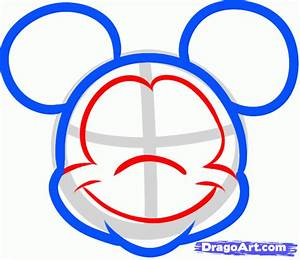 how to draw mickey mouse easy step 4