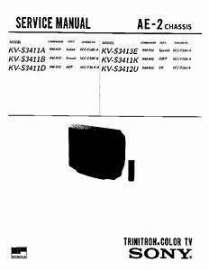 Sony Kv-s3411a Service Manual