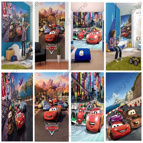 Interiors Lot Character by Disney Cars Wall Murals 6 Designs Available Bedroom