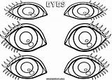 Eyes Coloring Pages Eyes4 sketch template
