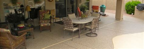 concrete patio floor covering epoxy coating services in