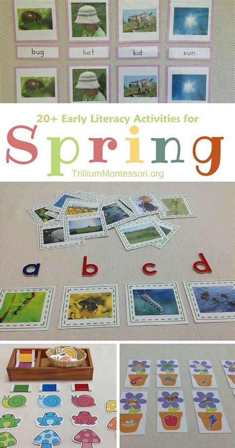 spring literacy activities for preschoolers montessori inspired activities and ideas