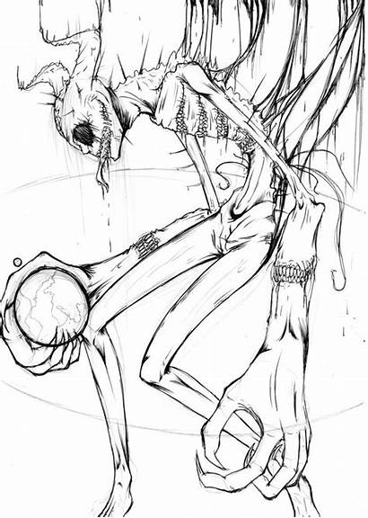 Zalgo Deviantart Creepy Drawings Creepypasta Notebook Sketches