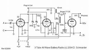 Dave U0026 39 S 3 Tube All Wave Receiver  Schematic