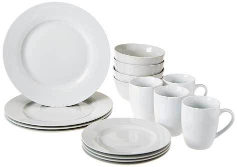 dinnerware plates piece amazonbasics service dining bowls kitchen mugs amazon