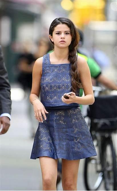 Selena Gomez Latest Casual Short York Legs
