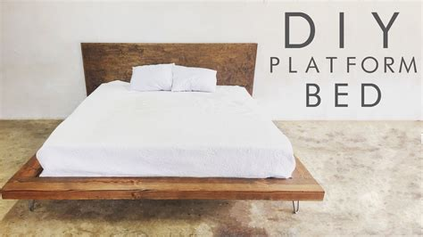 diy modern platform bed modern builds ep  youtube