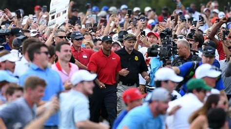 2020 Memorial: Tiger Woods playing a golf tournament ...