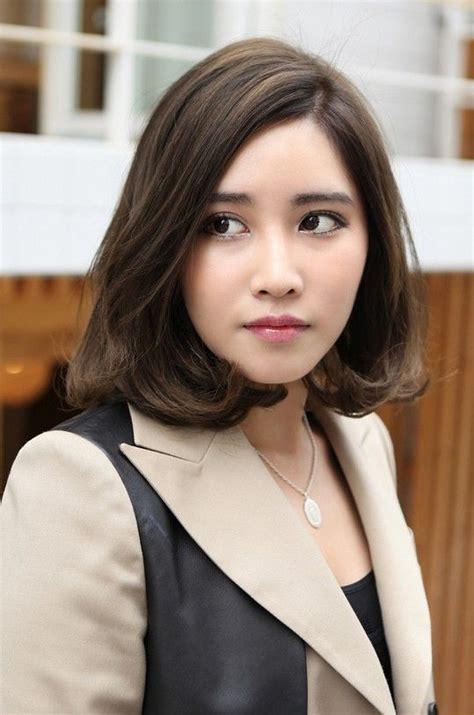 korean shoulder length hairstyles  celebrity