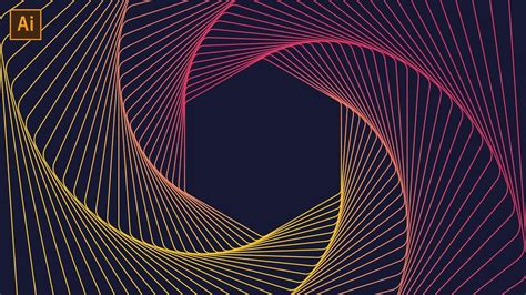 Line Designer by Geometric Line Tutorial Adobe Illustrator