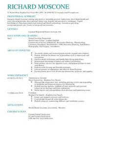 Dental Assistant Resume Template Word by Dental Assistant Cv Exle For Healthcare Livecareer