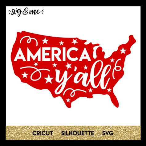 Download blank vector map of usa. Free SVG America Y'all - SVG & Me